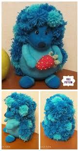diy pom pom sock hedgehog free sew