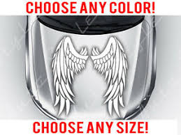 Angel Wings Car Truck Suv Mirrored Hood Decal Vinyl Sticker Custom Size Color Ebay
