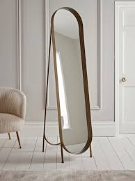 brushed gold full length mirror in 2020