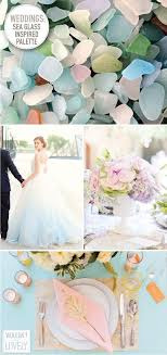 a sea glass inspired wedding palette