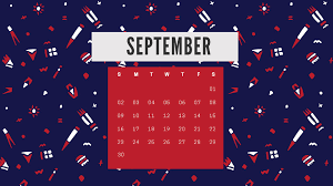 september 2018 calendar wallpaper