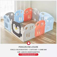 Penguin Children S Playpen Baby Crawling Mat Toddler Protection Fence Safety Home Playground Baby Gate Kids Toys Educational Lazada Ph