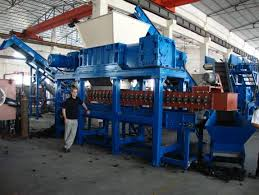 tire shredders and recycling equipment