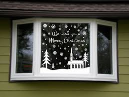 Holiday Wall Decal Christmas Snowy Snow Scene Window Kit Christmas Window Decorations Christmas Window Christmas Deco