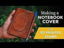 making a leather notebook cover with 3d
