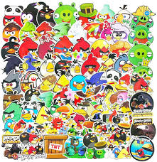Amazon.com: Angry Birds Game Cartoon Stickers Pack 100pcs for Kids Laptop  Motorcycle Water Bottles Luggage Car Skateboard Stickers Decals: Arts,  Crafts & Sewing