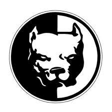 Pitbull Circle Vinyl Sticker