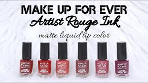 make up for ever artist rouge ink matte