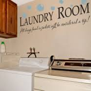 Laundry Room Wall Quote Wall Lettering The Simple Stencil