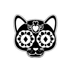13 3 13 3cm Sugar Skull Cat Creative Cartoon Vinyl Decal Fashion Accessories Decorative Window Car Sticker C4 0490 Car Sticker Vinyl Decalcar Window Sticker Aliexpress