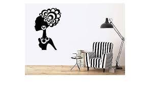 Home Decor Wall Sticker Vinyl Decal Beautiful Woman Ethnic Hair Jewelry Ornaments N047 Unitransbahia Com Br