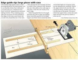 Diy Circular Saw Edge Guide Circular Saw Tips Jigs And Fixtures Woodarchivist Com Circular Saw Carpentry Projects Diy Woodworking
