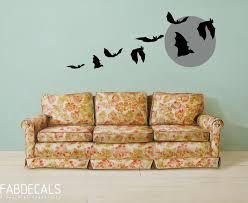 Bat Wall Decals Halloween Decoration Flying Bats Wall Etsy