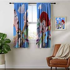 Amazon Com Kids Decor Curtain Toy Story Black Curtain Panels For Living Room And Bedroom Furniture Decor
