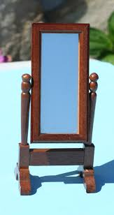 small wooden frame mirror x 2