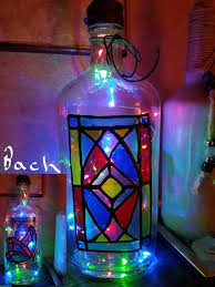 faux stained glass paint w cork light