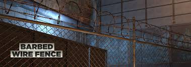 Barbed Wire Fence 3d Model The Pixel Lab