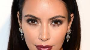 kim kardashian makeup free on