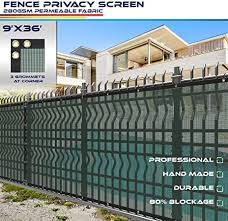 Amazon Com Windscreen4less 9 X 36 Solid Green Fence Privacy Screen Coated Polyester Mesh 80 Privacy 280gsm 3 Year Limited Warranty Garden Outdoor