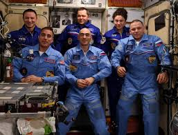 """Jessica Meir on Twitter: """"And in an instant our crew has doubled! Welcome  to @Space_Station Chris Cassidy, Anatoly Ivanishin & Ivan Wagner! This also  means Oleg, @AstroDrewMorgan and my time off the"""
