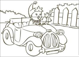Noddy Rijdt In De Auto Kleurplaat Gratis Kleurplaten Printen