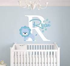 Amazon Com Personalized Lion Name Wall Decal Baby Boy Room Decor Nursery Wall Decals Art Vinyl Sticker Baby
