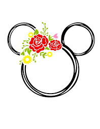 Mickey Mouse Floral Vinyl Decal Mickey Mouse Floral Vinyl Decal J And J Design Studio Decal Floral Mickey In 2020 Disney Designs Mickey Mickey Mouse Design