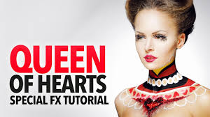 queen of hearts hair and makeup