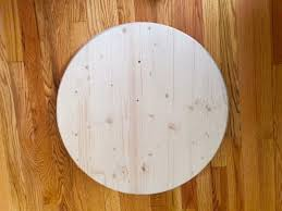 wood table top 1 x 30 round wood top