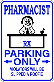 Pharmacist Parking Only Sign Car Stickers Decals
