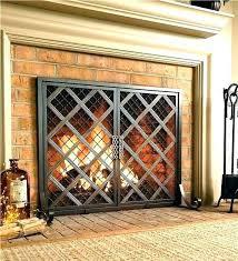 large fireplace screens custom extra