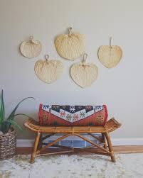 Rattan Fan Wall Art Large Woven Wall Art Palm Leaf Decor Boho Decor Mid Century Tropical Decor Artlovesantiq Tropical Decor Tropical Home Decor Palm Leaf Decor