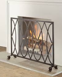 gold fireplace screen neiman marcus