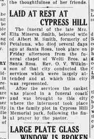 Ella Minerva Smith Obit Petaluma Argus Courier 26 Oct 1934 ...