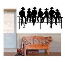 Cowboys Sitting On Fence Wall Decal Home Decor 7 5 X 15 By Best Priced Decals Http Www Amazon Com Dp B009ycuihk Ref Cm Sw Cowboy Room Western Decor Home