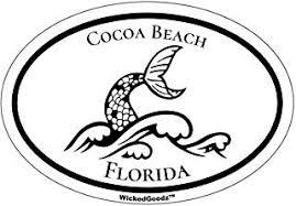 Florida Bumper Sticker Wickedgoodz Oval Cocoa Beach Pirate Vinyl Decal Beach Vacation Souvenir Gift Itrainkids Com