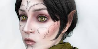 gives herself the perfect dalish elf