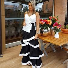 Adriana Mendoza - Colette Bogota Ruffles Skirt, Colette Bogota White Wrap  Top - Ruffles day | LOOKBOOK