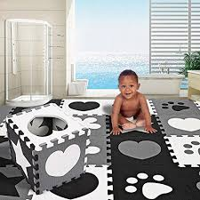 Etuoji New Kids Baby Playmats Non Toxic Extra Thick Foam Large With Gate Fence Crawling Play Mat Us Stock Black White Playmat Play Mat Baby Gym Mat