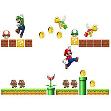 Amazon Com Roommates Nintendo Super Mario Build A Scene Peel And Stick Wall Decals Rmk2351scs Multi Home Kitchen