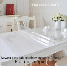 clear soft glass table covers