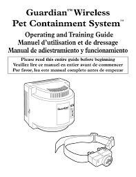 Guardian Wireless Pet Containment System Manualzz