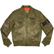 us navy pilot leather jacket by warson
