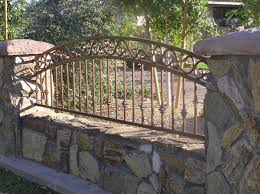 Decorative Wrought Iron Fencing 3 Rail Arched Decorative View Fencing Wrought Iron Fences Iron Fence Courtyard Design
