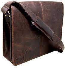 18 buffalo leather messenger bag