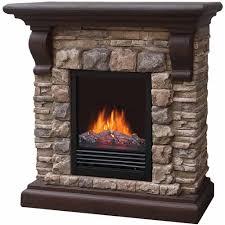 40 polyfiber electric fireplace tan