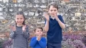 Royal children join nation in Clap for ...