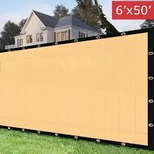Home Garden Privacy Screen Fence Windscreen Heavy Duty 6 X50 Chain Link Brass Grommet Green Privacy Screens Windscreens