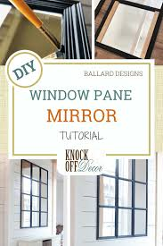 create a window pane mirror