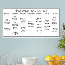 Whiteboard Weekly Calendar Wall Decal